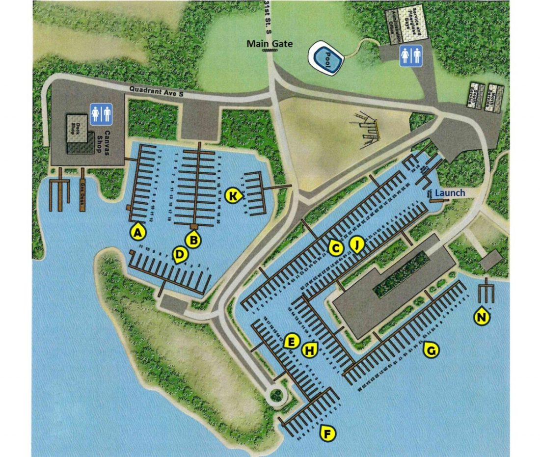 Afton Marina Slip Map